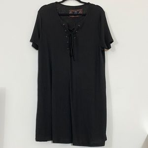 Black Dress w/Drawstring Front NWOT